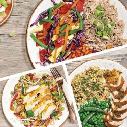 Muskel-Mittagessen für eine Woche - 5 Mahlzeiten