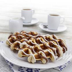 Chocolate & Vanilla Protein Iced Waffle
