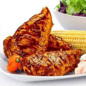 Bourbon Glazed Chicken Breasts