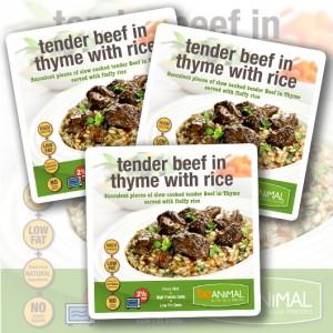 Zartes Thymianrindfleisch mit Reis – 6 Mahlzeiten