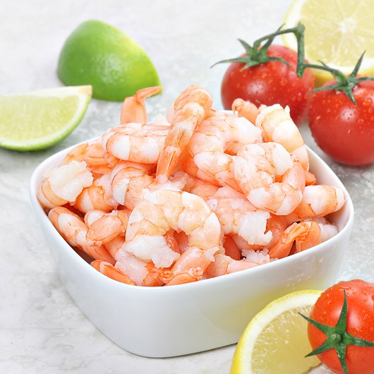 fresh cooked peeled king prawns 250g from muscle food