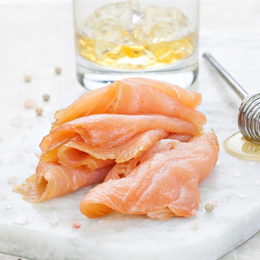 Whiskey honey marinated smoked salmon from muscle food for Honey smoked fish