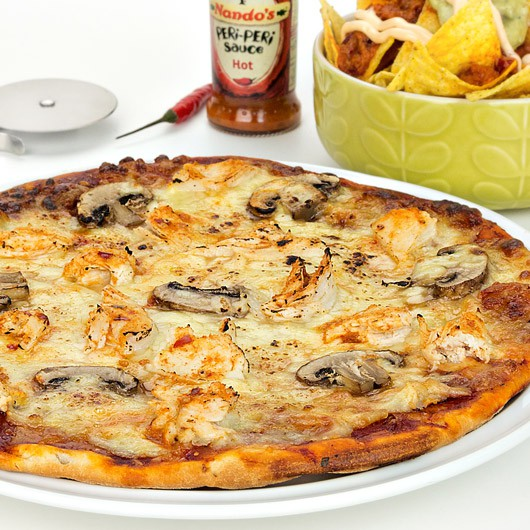 Hot Peri Peri Chicken Protein Pizza from Muscle Food