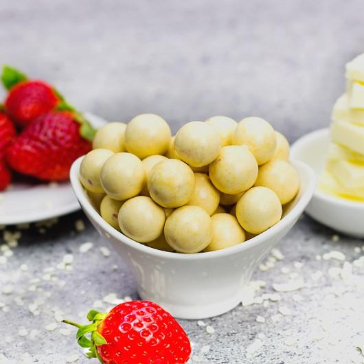 White Choc Strawberry Balls - +14g Protein