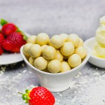 White Choc Strawberry Balls - 14g Protein