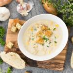 High Protein Chicken & Sweetcorn Soup