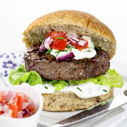 2 x 4oz Lighter Beef Steak Burgers
