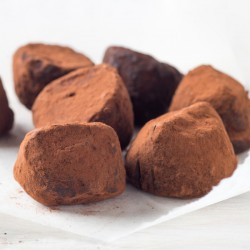 Cocoa Dusted Protein Chocolate Truffle
