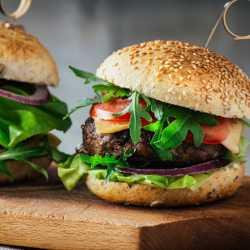 2 x 113 g Rumpsteak-Burger vom Weiderind