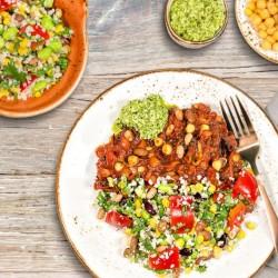 Gemüse-Mix Burrito Schale - 20 g Protein