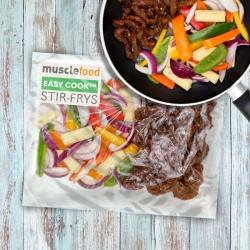 Pikante Chili-Rindfleisch-Pfanne für 1 Person