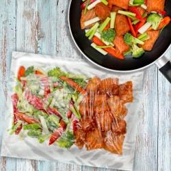 5 x Teriyaki Salmon Stir-Fry 1 Person