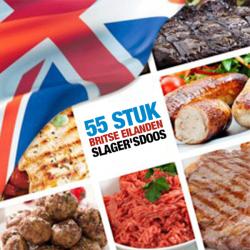 55 stuks Britse eilanden slagers box.