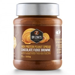 Dr Zaks Fudge Brownie Peanut Butter - 320g