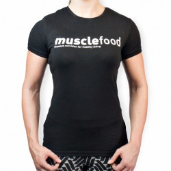 Female Muscle Food T-Shirt - Black