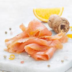 Champagne & Orange Marinated Salmon