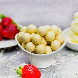 White Choc Strawberry Balls - +14g Protein