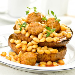 Protein Beans with Chicken Meatballs x 6