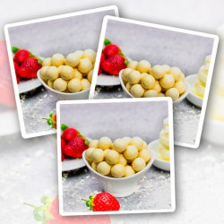 White Choc Strawberry Balls - 10 Bags