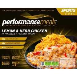 340 g performancemeals Zitronen- und Kräuterhähnchen mit Süßkartoffeln