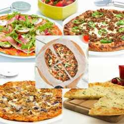 Selection von 5 Proteinpizzas