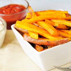 Chunky Sweet Potato Chips (Skin on) - 500g