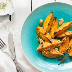 Peeled Sweet Potato Wedges - 500g