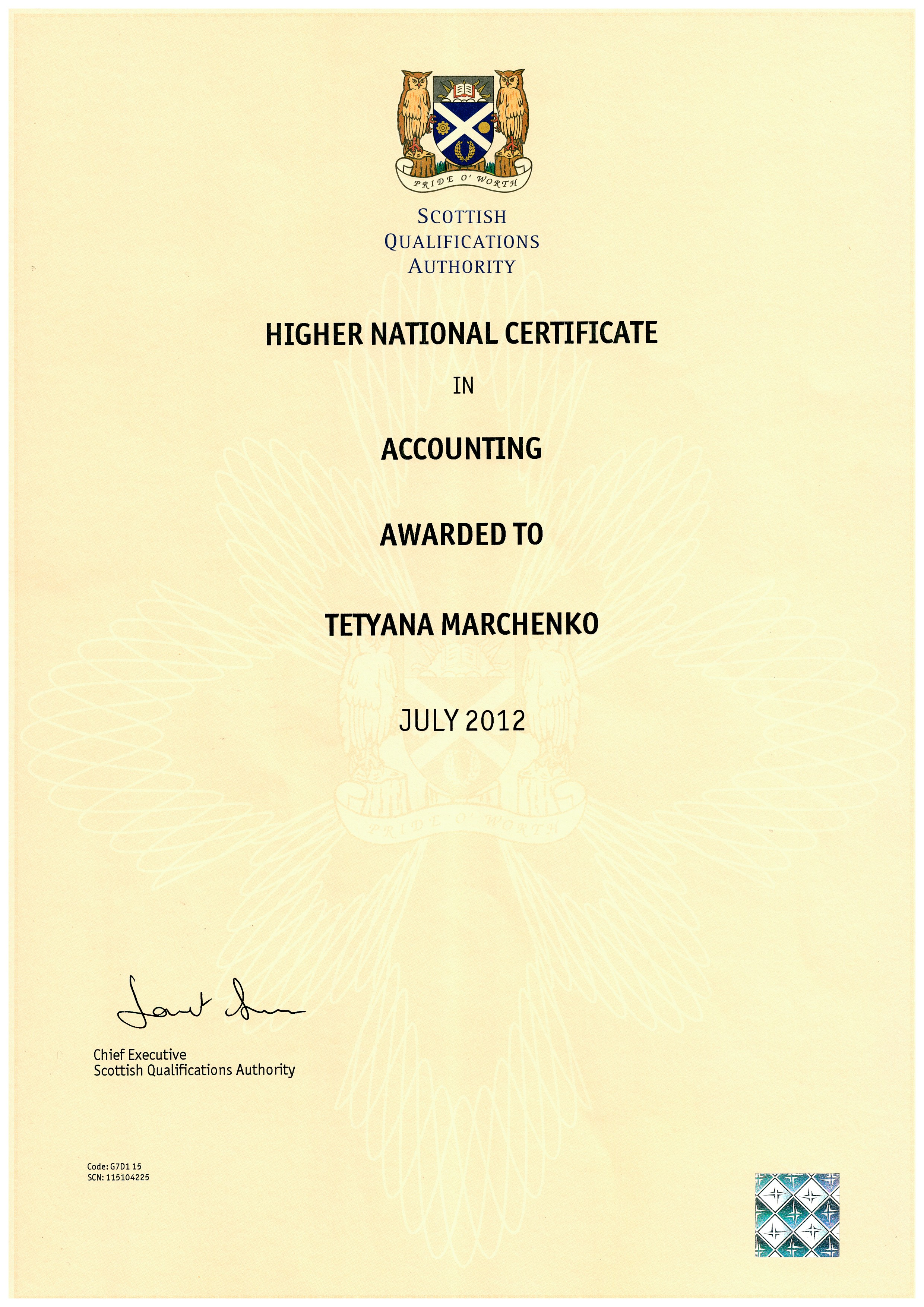 accounting hnc certificate face reporting replenishment liaising responsibilities administration suppliers included customer control general had service