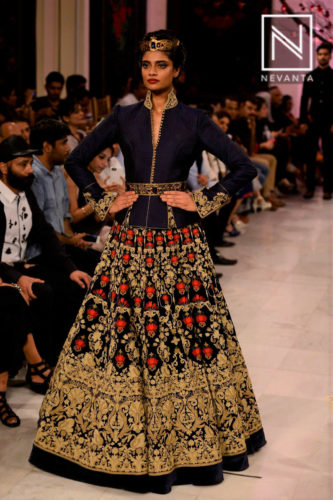Heavily embroidered lehenga by Rohit Bal