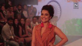 Chitrashi Rawat for Gandhian Fab at India Beach Fashion Week 2017