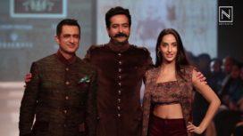 Sanjay Suri and Nora Fatehi Walk for Rohit Kamra at Pune Fashion Week