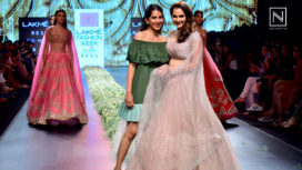 Sania Mirza Turns Showstopper For Anushree Reddy at Lakme Fashion Week SR 2018