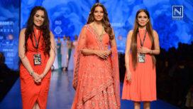 Bipasha Basu Revisits her Modelling Days at Amazon India Fashion Week AW18