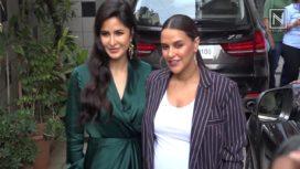 Neha Dhupia and Katrina Kaif Strike a Perfect Pose Together for No Filter Neha Recording