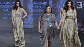 Daisy Shah Walks the Ramp For Kanchan More Sabharwal at LFW SR19