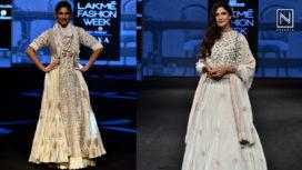 Aahana Kumra and Kubbra Sait Turn Perfect Muse to Gazal Mishra at LFW SR19