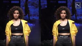 Sanya Malhotra Glides the Runway for Narendra Kumar at Lakme Fashion Week SR19