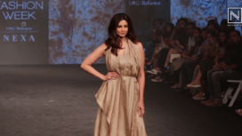 Daisy Shah Stuns as a Showstopper for Kanchan More Sabharwal at LFW SR19