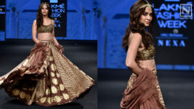 Kriti Kharbanda Glides the Ramp for Sukriti & Aakriti at Lakme Fashion Week SR19