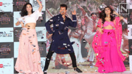 The Star Cast of Student of the Year 2 at the launch of Mumbai Dilli Di Kudiyaan Song