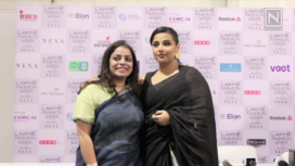 Vidya Balan Turns Perfect Muse to Anavila at Lakme Fashion Week Summer Resort 2019