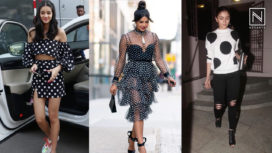 Bollywood's Fashionistas Sport the Polka Dot Trend