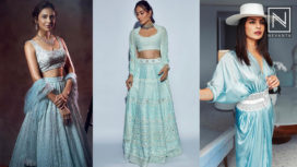 Bollywood Fashionistas Styling Pale Blue Outfits
