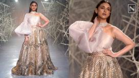 Aditi Rao Hydari Bedazzles for Mosaiq by Pankaj & Nidhi at India Couture Week 2019