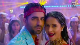 Ayushmann Khurrana and Nushrat Bharucha on the Sets of Dream Girl's Latest Song Dhagala Lagali