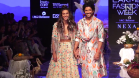 Farhan Akhtar and Shibani Dandekar Walk for Payal Singhal at LFW Winter Festive 2019