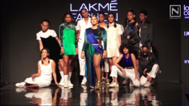 Raja Kumari Turns Perfect Muse for Label Gundi Studios at Lakme Fashion Week Winter Festive19