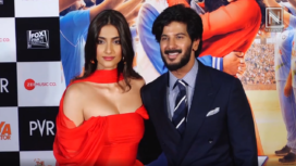 Sonam Kapoor and Dulquer Salmaan Stuns at The Zoya Factor Trailer Launch