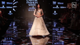 Ananya Panday Walks for Anushree Reddy's Bridal Collection at LFW WF19