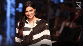 Athiya Shetty Graces the Ramp for Abraham & Thakore at Lakme Fashion Week WF19